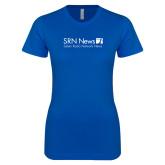 Next Level Ladies SoftStyle Junior Fitted Royal Tee-Salem Radio Network News