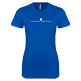 Next Level Ladies SoftStyle Junior Fitted Royal Tee-The Dennis Prager Show