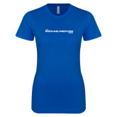 Next Level Ladies SoftStyle Junior Fitted Royal Tee-The Michael Medved Show