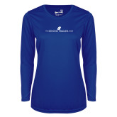 Ladies Syntrel Performance Royal Longsleeve Shirt-The Dennis Prager Show