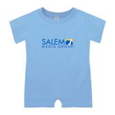 Light Blue Infant Romper-Media Group
