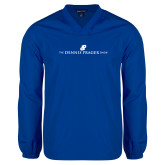 V Neck Royal Raglan Windshirt-The Dennis Prager Show