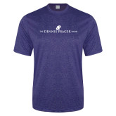 Performance Royal Heather Contender Tee-The Dennis Prager Show