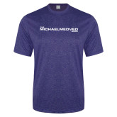 Performance Royal Heather Contender Tee-The Michael Medved Show