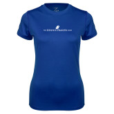 Ladies Syntrel Performance Royal Tee-The Dennis Prager Show