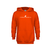 Youth Orange Fleece Hoodie-The Dennis Prager Show
