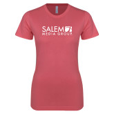 Next Level Ladies SoftStyle Junior Fitted Pink Tee-Media Group