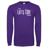 Purple Long Sleeve T Shirt-The Larry Elder Show