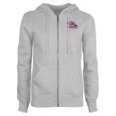ENZA Ladies Grey Fleece Full Zip Hoodie-Joe Walsh