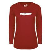 Ladies Syntrel Performance Cardinal Longsleeve Shirt-Hugh Hewitt