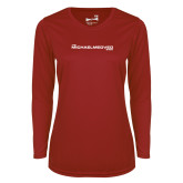 Ladies Syntrel Performance Cardinal Longsleeve Shirt-The Michael Medved Show