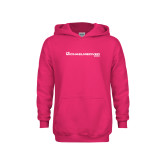 Youth Raspberry Fleece Hoodie-The Michael Medved Show