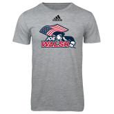 Adidas Sport Grey Logo T Shirt-Joe Walsh