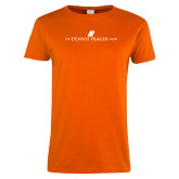 Ladies Orange T Shirt-The Dennis Prager Show