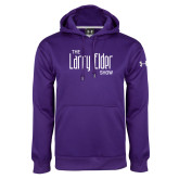 Under Armour Purple Performance Sweats Team Hoodie-The Larry Elder Show