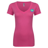 Next Level Ladies Junior Fit Ideal V Pink Tee-The Eric Metaxas Show