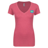Next Level Ladies Vintage Pink Tri Blend V Neck Tee-The Eric Metaxas Show
