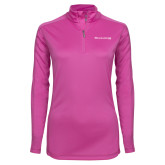 Ladies Syntrel Interlock Raspberry 1/4 Zip-The Michael Medved Show