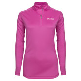 Ladies Syntrel Interlock Raspberry 1/4 Zip-The Mike Gallagher Show