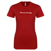 Next Level Ladies SoftStyle Junior Fitted Cardinal Tee-The Michael Medved Show