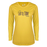 Ladies Syntrel Performance Gold Longsleeve Shirt-The Larry Elder Show