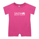 Bubble Gum Pink Infant Romper-Media Group