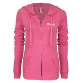 ENZA Ladies Hot Pink Light Weight Fleece Full Zip Hoodie-The Mike Gallagher Show