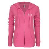 ENZA Ladies Hot Pink Light Weight Fleece Full Zip Hoodie-The Larry Elder Show