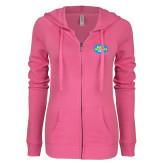 ENZA Ladies Hot Pink Light Weight Fleece Full Zip Hoodie-The Eric Metaxas Show