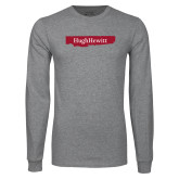 Grey Long Sleeve T Shirt-Hugh Hewitt