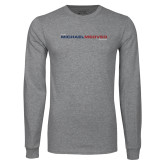 Grey Long Sleeve T Shirt-The Michael Medved Show
