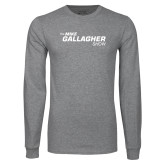 Grey Long Sleeve T Shirt-The Mike Gallagher Show