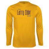 Performance Gold Longsleeve Shirt-The Larry Elder Show