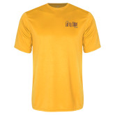 Performance Gold Tee-The Larry Elder Show