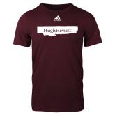 Adidas Maroon Logo T Shirt-Hugh Hewitt