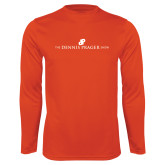 Performance Orange Longsleeve Shirt-The Dennis Prager Show