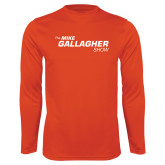 Performance Orange Longsleeve Shirt-The Mike Gallagher Show