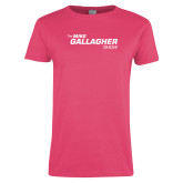 Ladies Fuchsia T Shirt-The Mike Gallagher Show