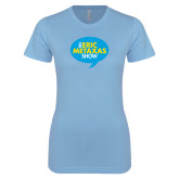 Ladies SoftStyle Junior Fitted Light Blue Tee-The Eric Metaxas Show