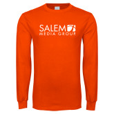 Orange Long Sleeve T Shirt-Media Group