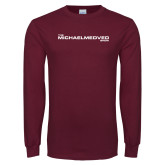 Maroon Long Sleeve T Shirt-The Michael Medved Show
