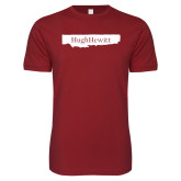 Next Level SoftStyle Cardinal T Shirt-Hugh Hewitt