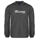 V Neck Charcoal Raglan Windshirt-The Mike Gallagher Show