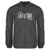 V Neck Charcoal Raglan Windshirt-The Larry Elder Show