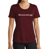 Ladies Performance Maroon Tee-The Michael Medved Show