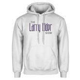 White Fleece Hoodie-The Larry Elder Show