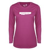 Ladies Syntrel Performance Raspberry Longsleeve Shirt-Hugh Hewitt