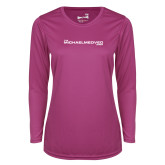 Ladies Syntrel Performance Raspberry Longsleeve Shirt-The Michael Medved Show