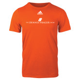Adidas Orange Logo T Shirt-The Dennis Prager Show