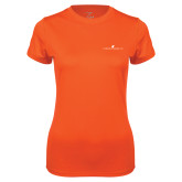 Ladies Syntrel Performance Orange Tee-The Dennis Prager Show